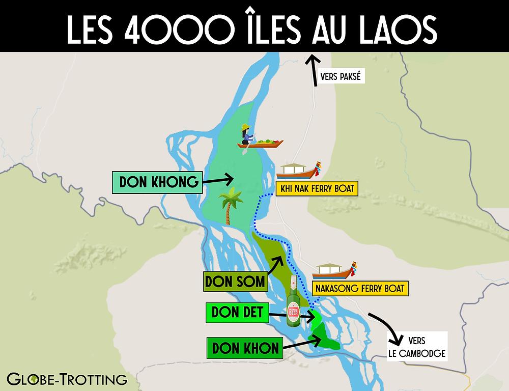4000 iles Laos Carte