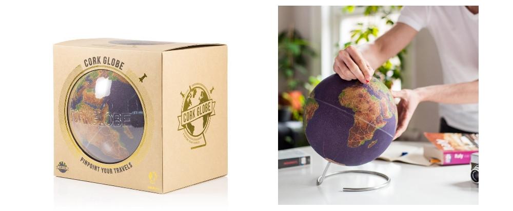 Globe liège en couleur