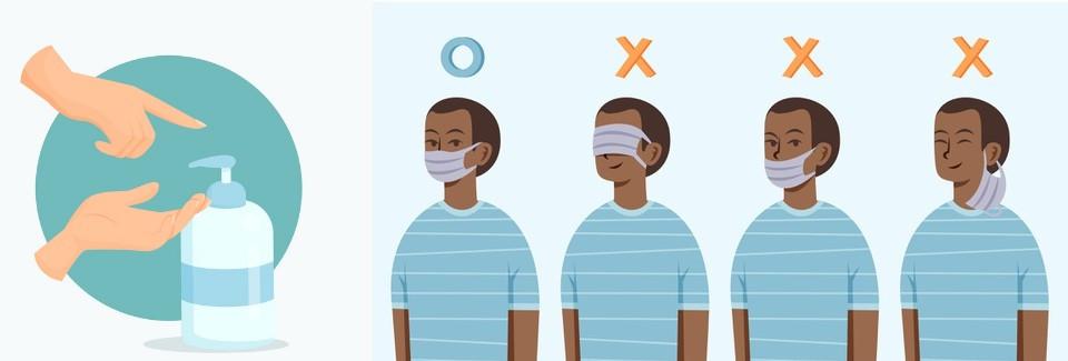 Comment bien porter le masque lavable