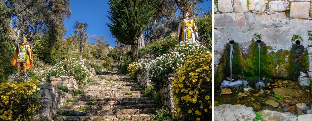 Les escaliers et la Fontaine de Jouvence et de Yumani