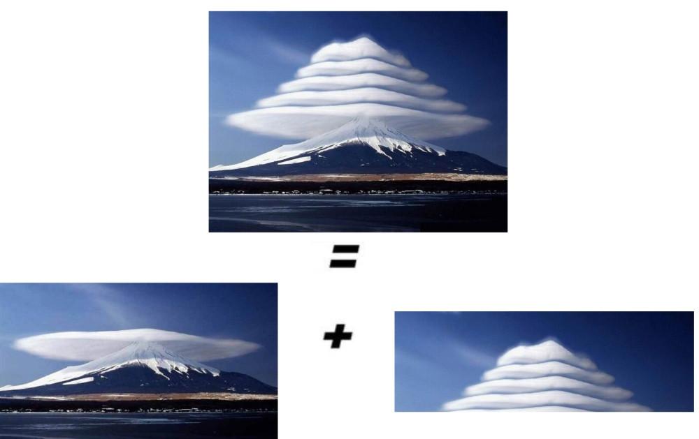 fake nuages lenticulaires mont fuji