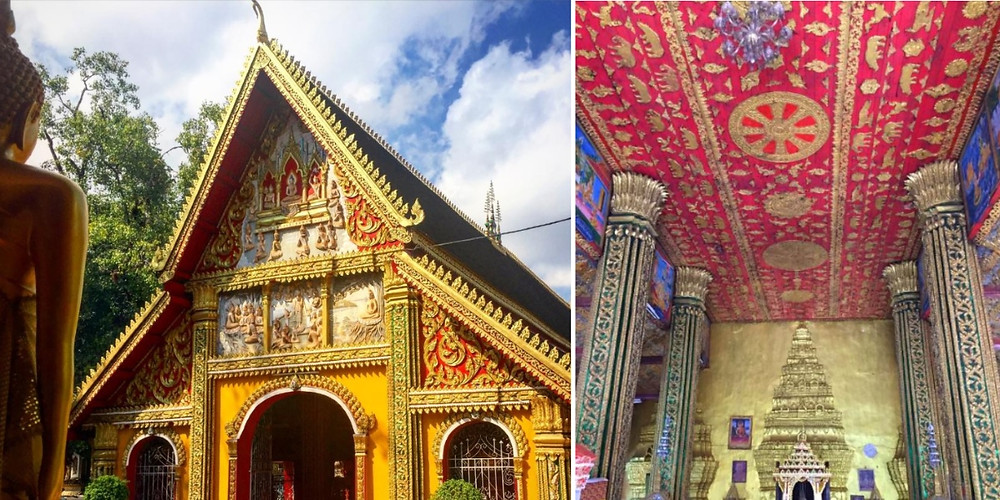 Vientiane laos visite Temple Vat Simuang