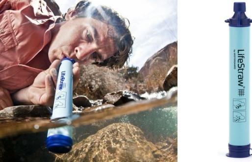 Lifestraw : Paille et gourde pour filtrer l'eau et la rendre potable