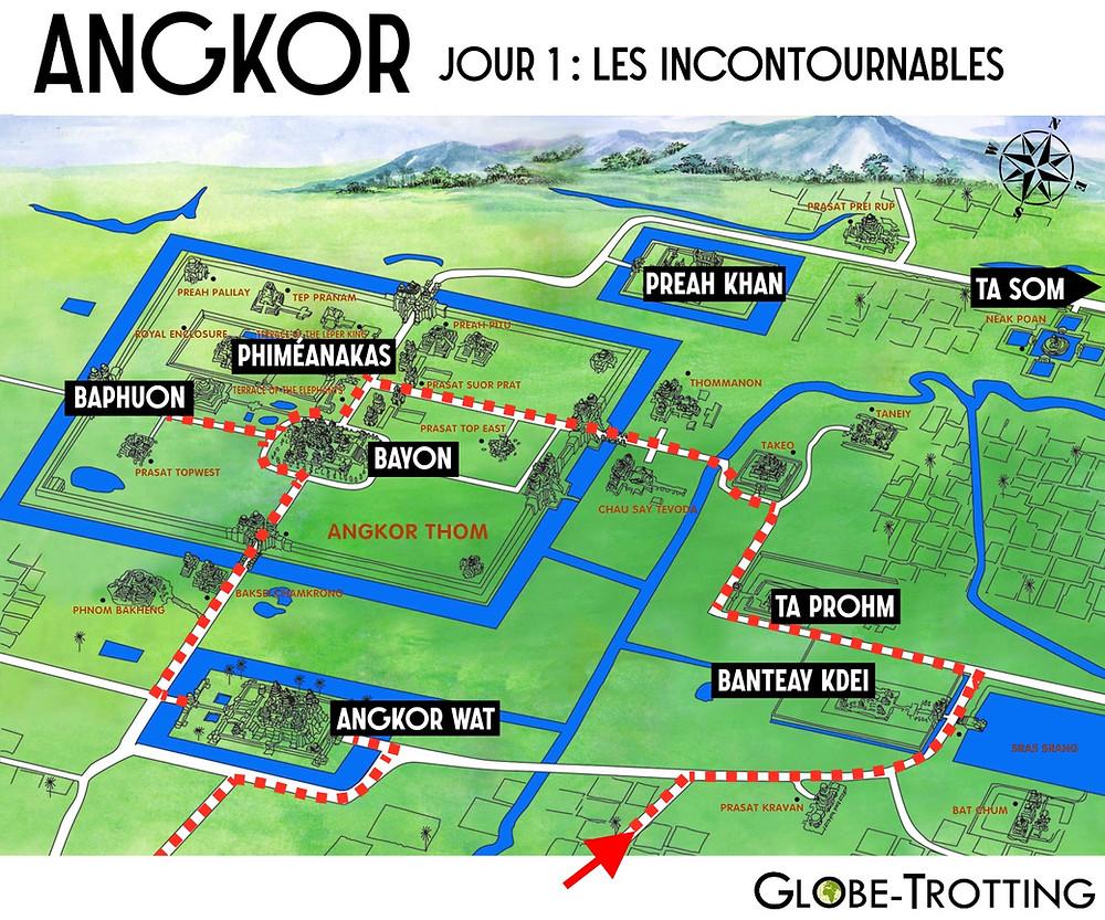 Angkor circuit de visite jour 1