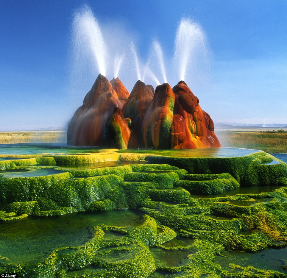 Fly Geyser du désert Black Rock