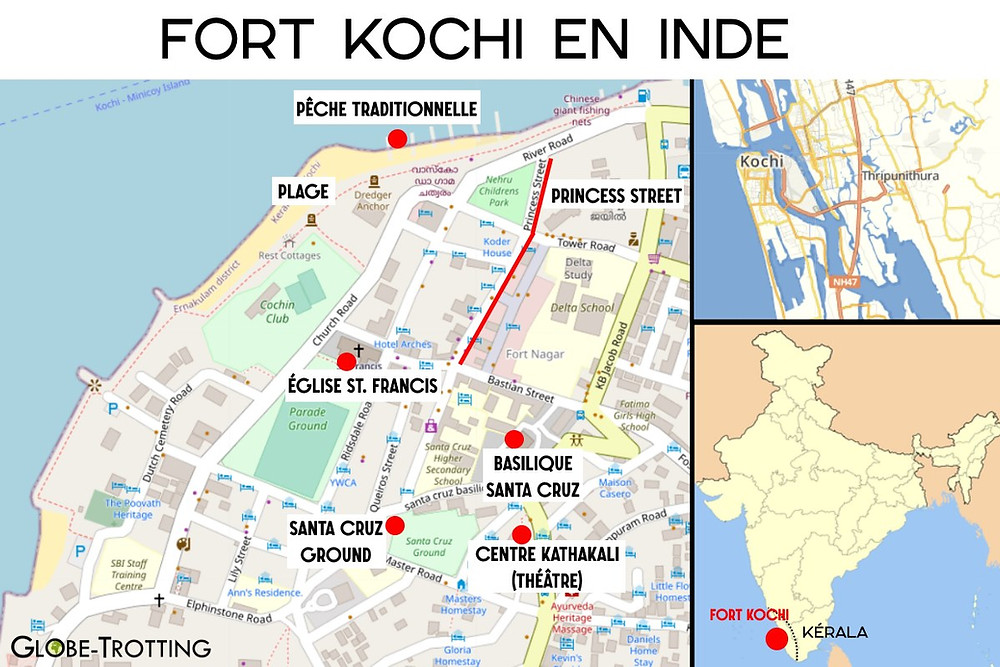 Carte Fort Kochi Cochin