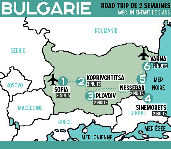 ITINERAIRE BULGARIE Road trip