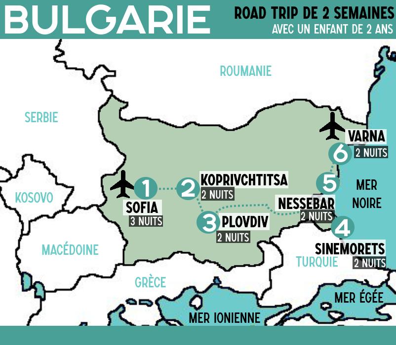 ITINERAIRE BULGARIE Road trip