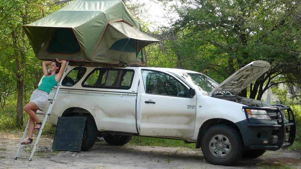 4x4 tente sur le toit namibie