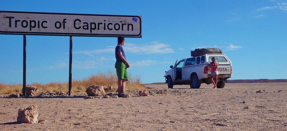 Namibie panneau Tropique du capricorne