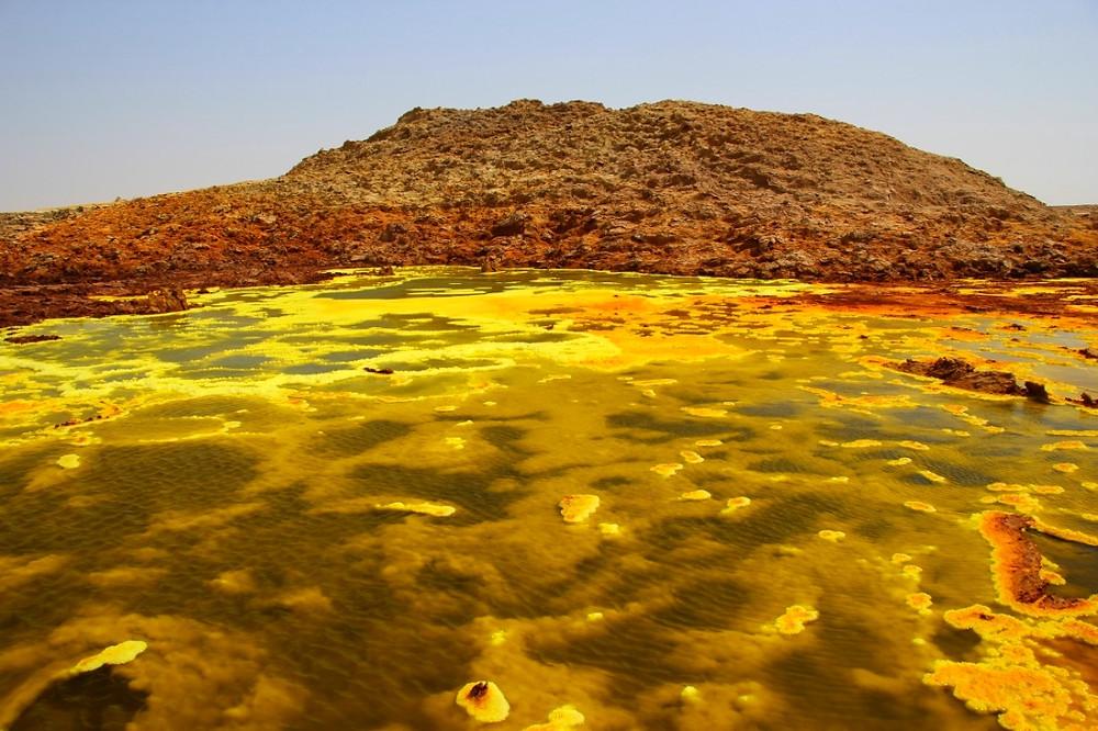 Dallol ethiopie souffre jaune
