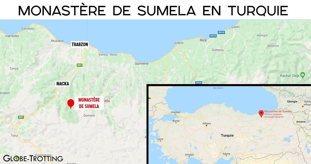 Carte Monastère de Sumela en Turquie