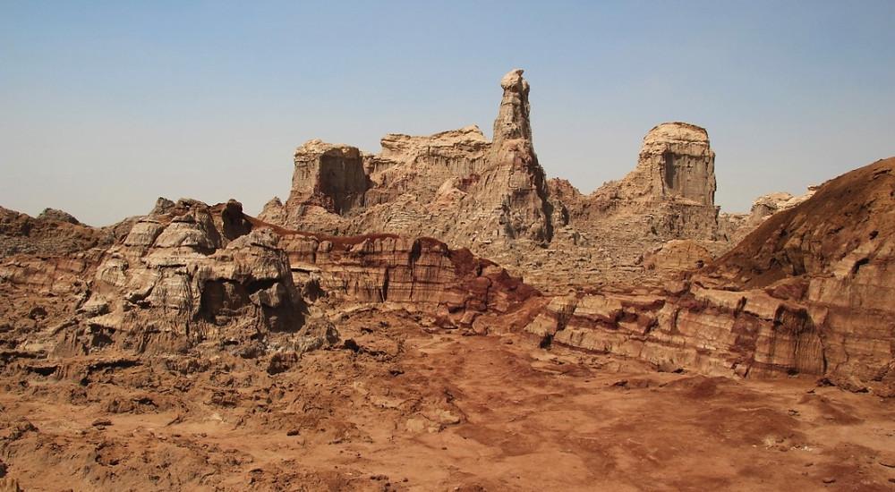 canyon de sel rose éthiopie vue