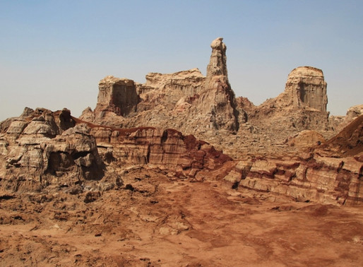 Le canyon de sel rose en Ethiopie