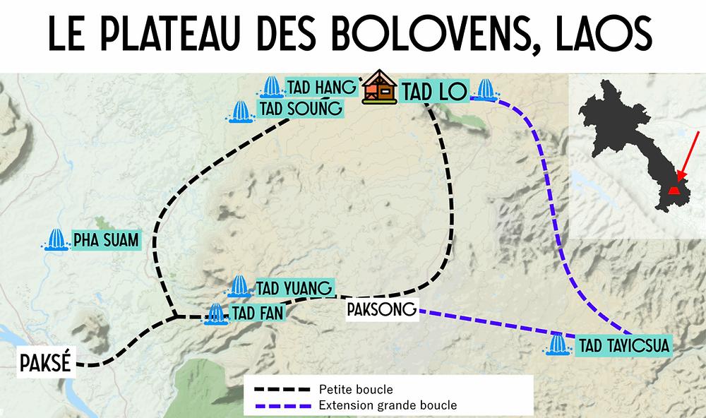 Carte du Plateau des Bolovens