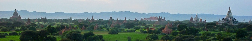 Bagan Birmanie 2200 temples panorama
