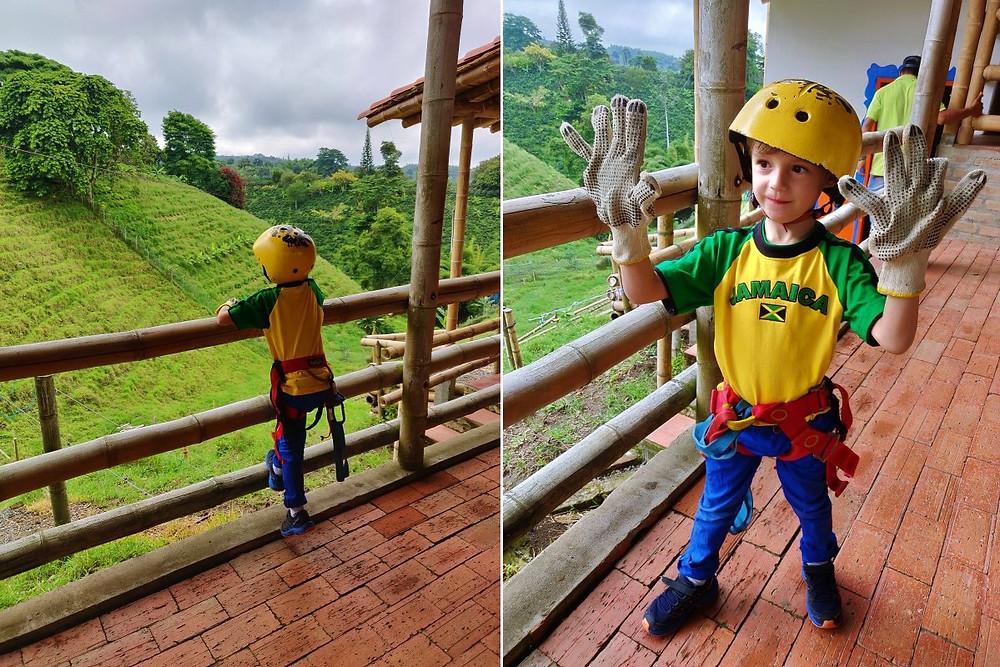 Tyrolienne tandem enfant Colombie