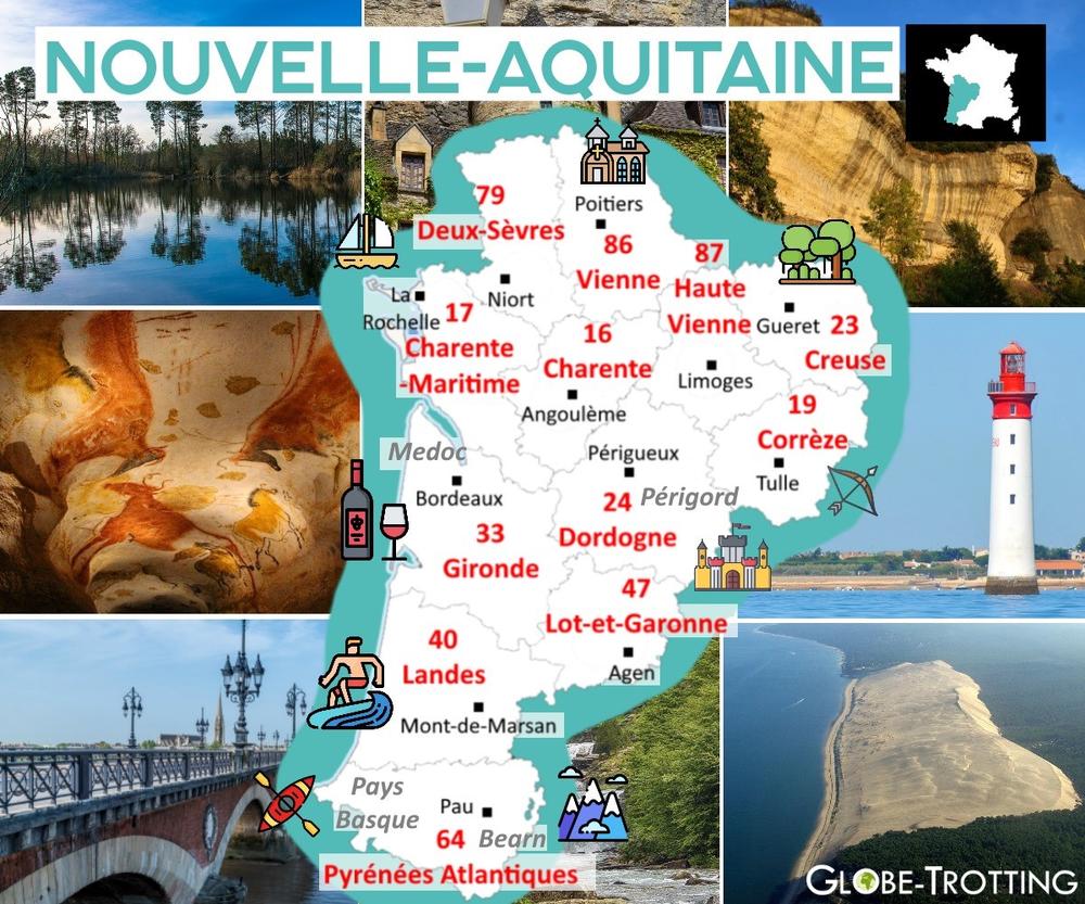 Où partir en France Nouvelle-Aquitaine