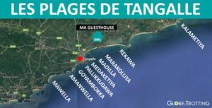 Carte des plages de tangalle sri lanka