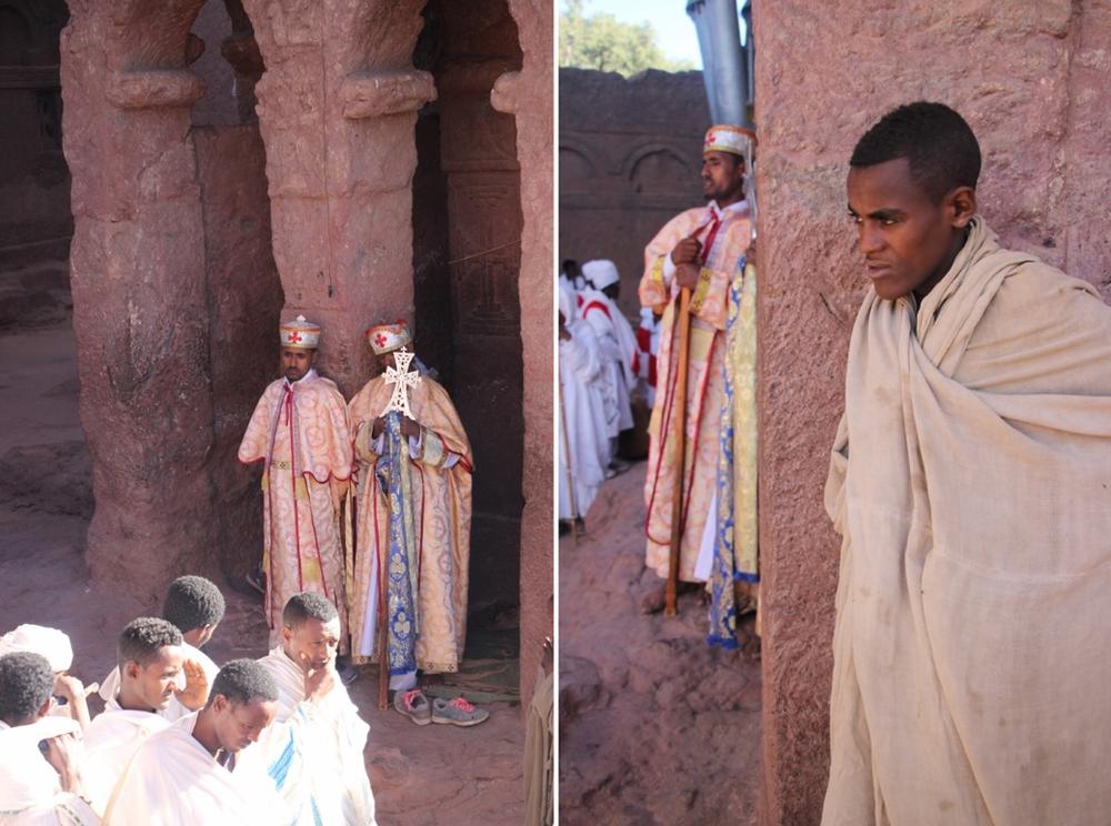 Lalibela Ethiopie pretres