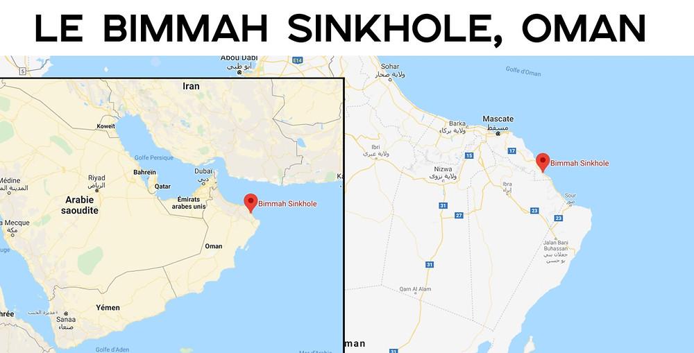 Bimmah Sinkhole carte