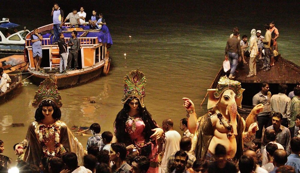 Durga Puja Inde Benares Varanasi