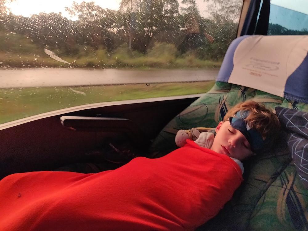 Bus de nuit colombie avec enfant