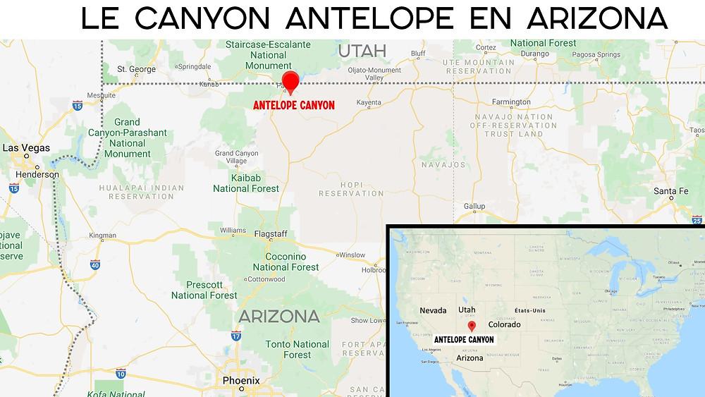 Carte canyon antelope antilope