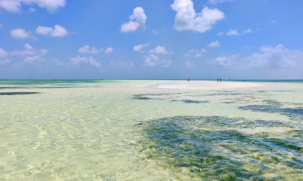 banc de sable plage de Jambiani