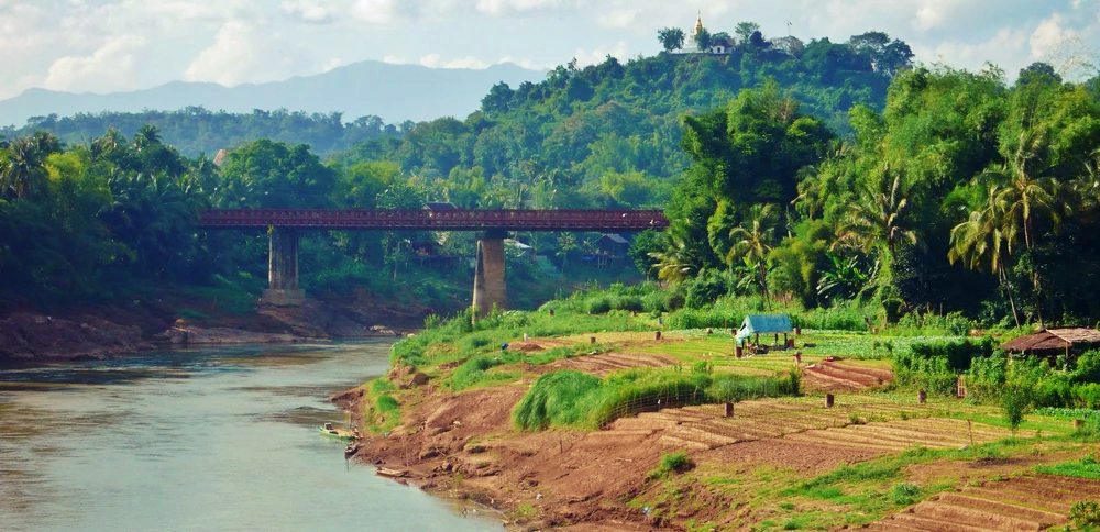rivière Nam Khan à Luang Prabang