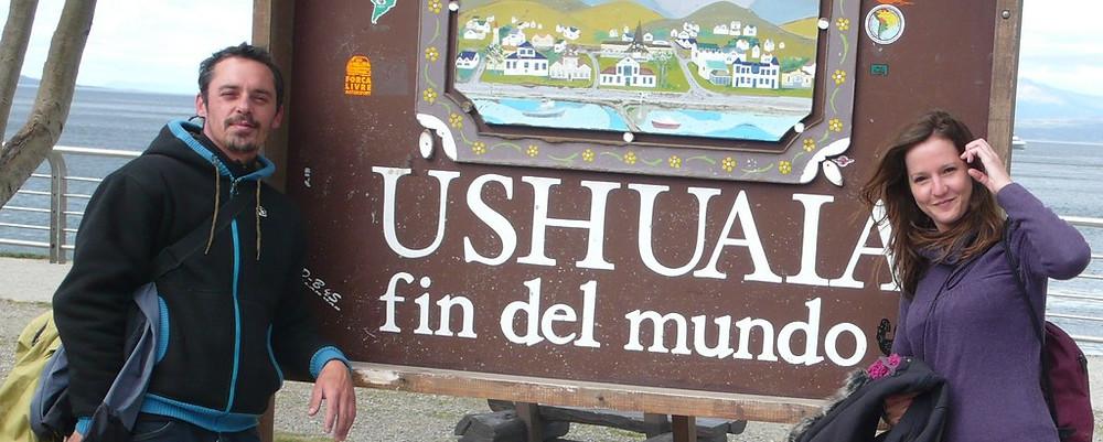 Ushuaia fin del mundo panneau