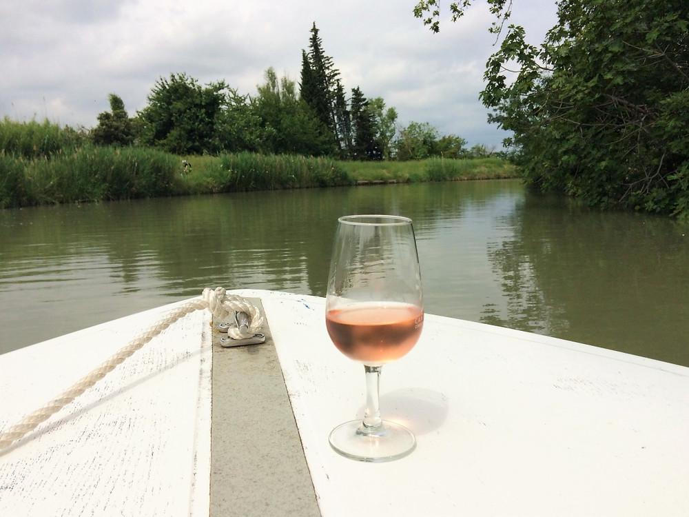 Apéro sur l'eau canal du midi