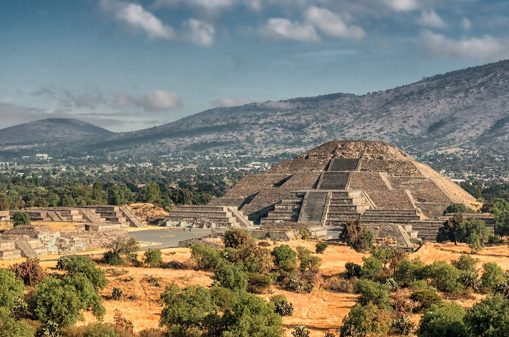 Pyramides de Teotihuacan au Mexique