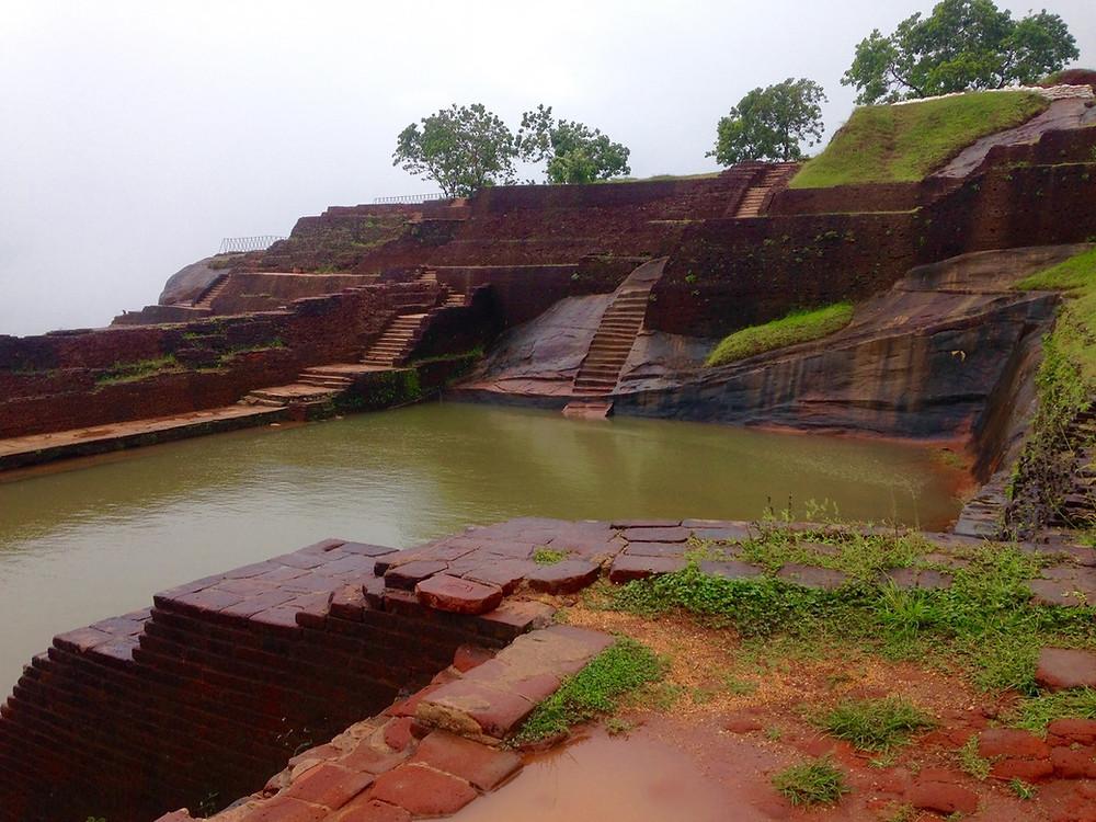 bassins Sigîriya au Sri Lanka