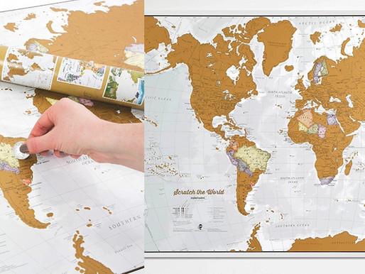 Carte du Monde à Gratter : Tous les Modèles