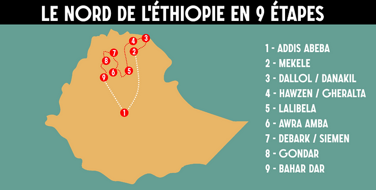 Ethiopie itinéraire nord