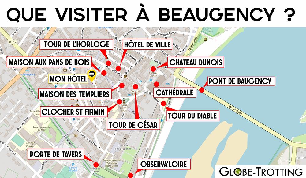 Plan de Ville Beaugency tourisme