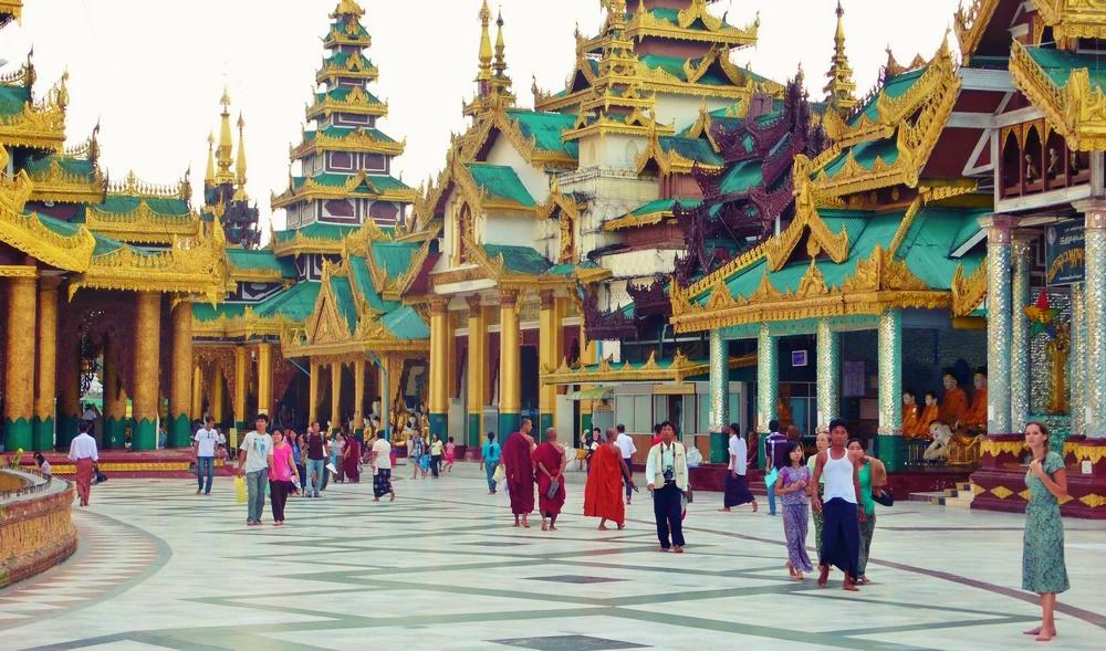 La Paya Shwedagon Yangon birmanie