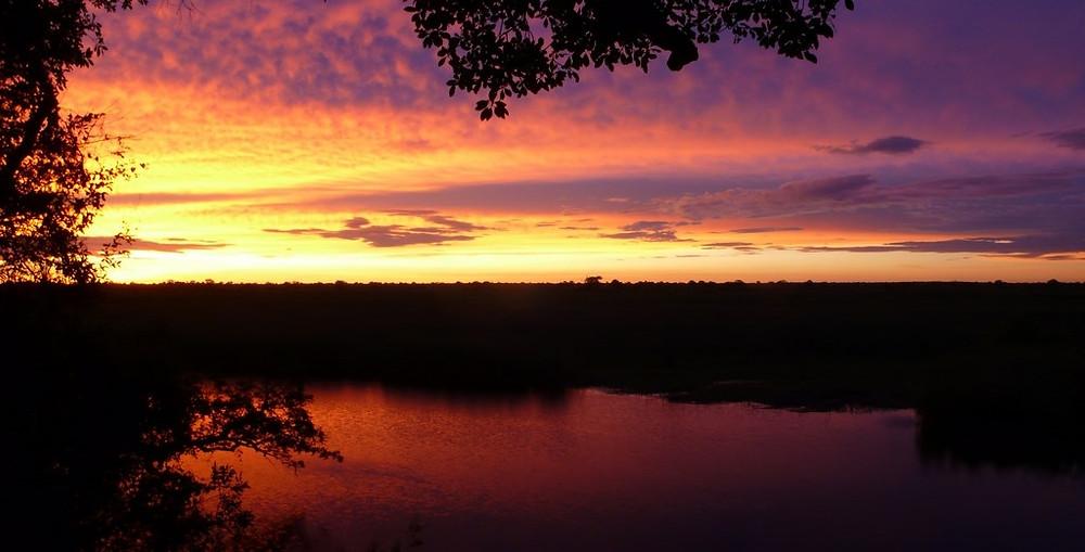 Kongola Namibie coucher de soleil road trip