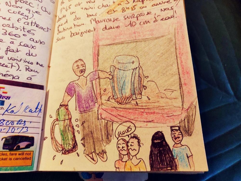 carnet voyage dessins inde
