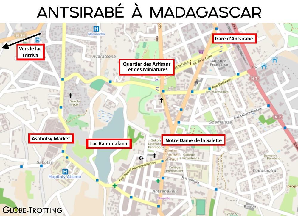plan touristique antsirabe madagascar