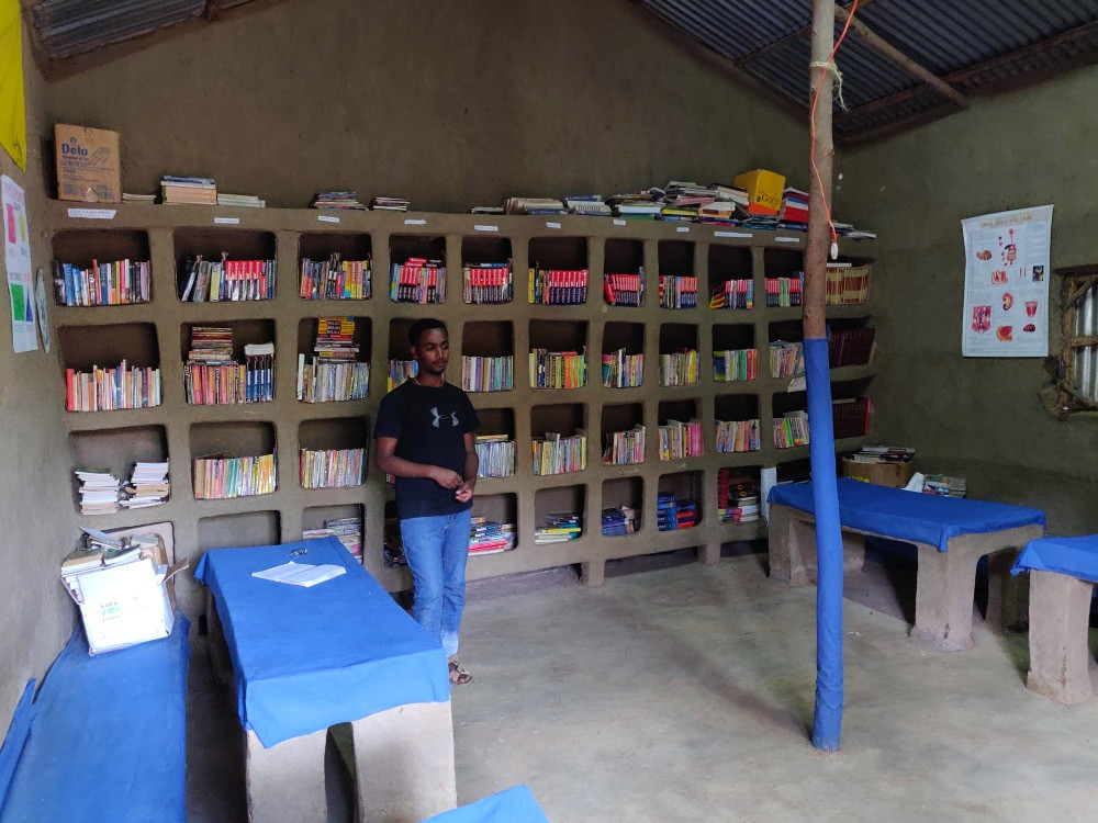 Awra Amba bibliothèque