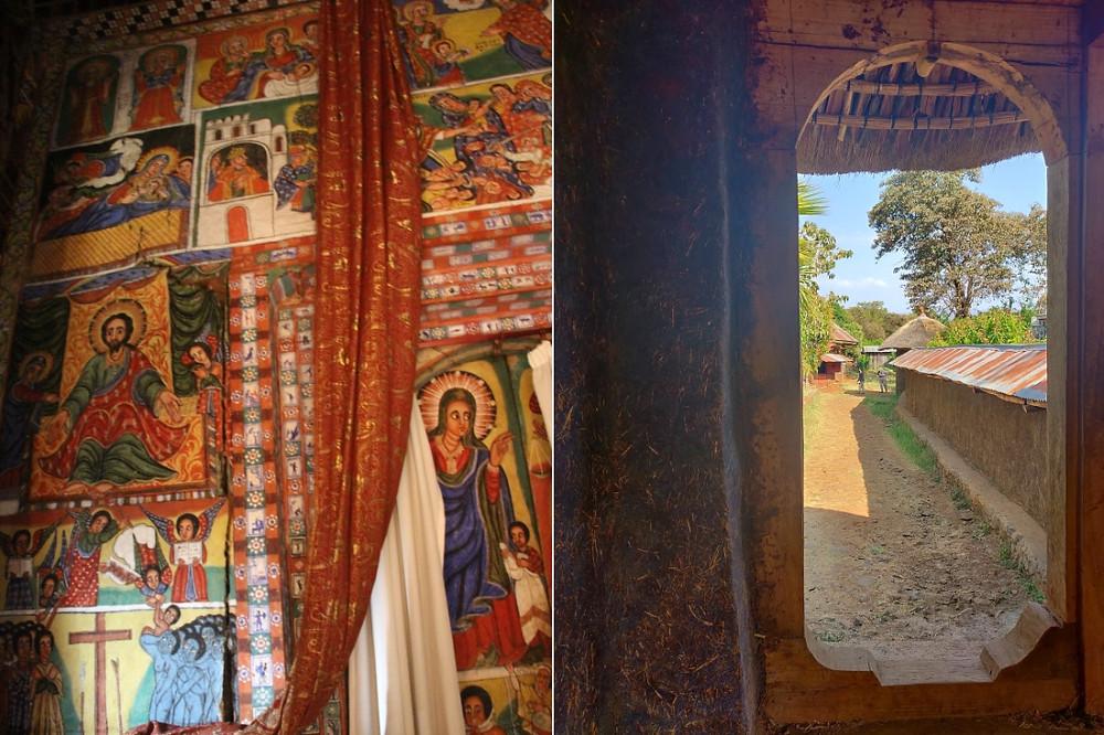 lac tana éthiopie zeguié église