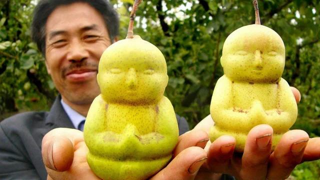 poires en forme de bouddha chine