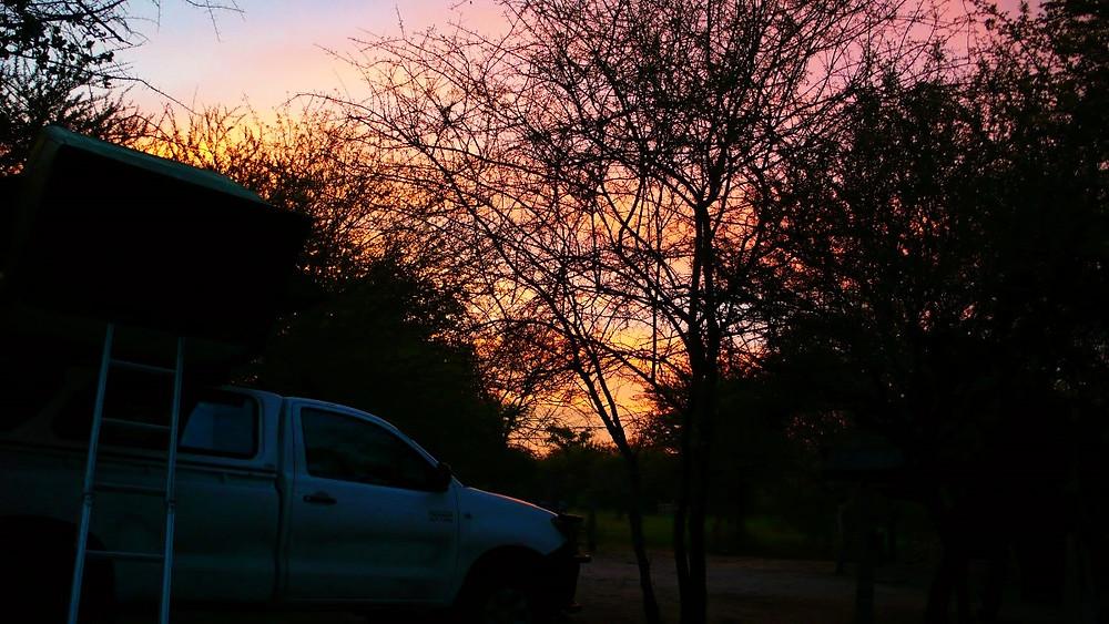 4x4 tente sur le toit namibie grootfontein