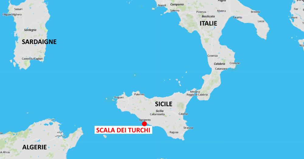 Scala dei turchi carte situation