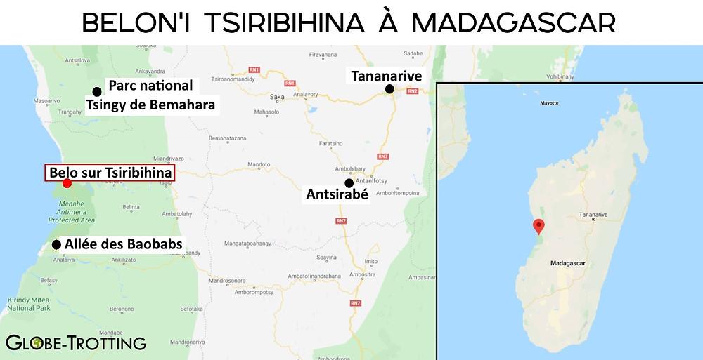 Carte Belo-sur-Tsiribihina