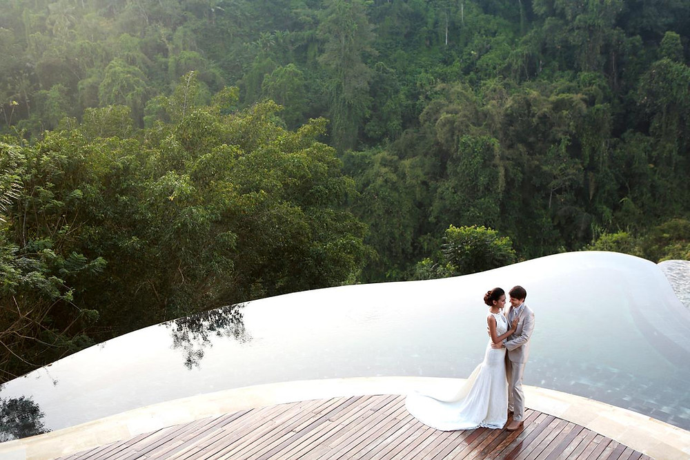 mariage Piscine bali 2 étages