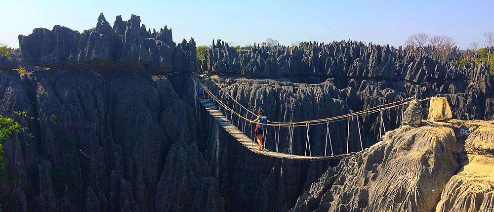 pont de singe madagascar Tsingy