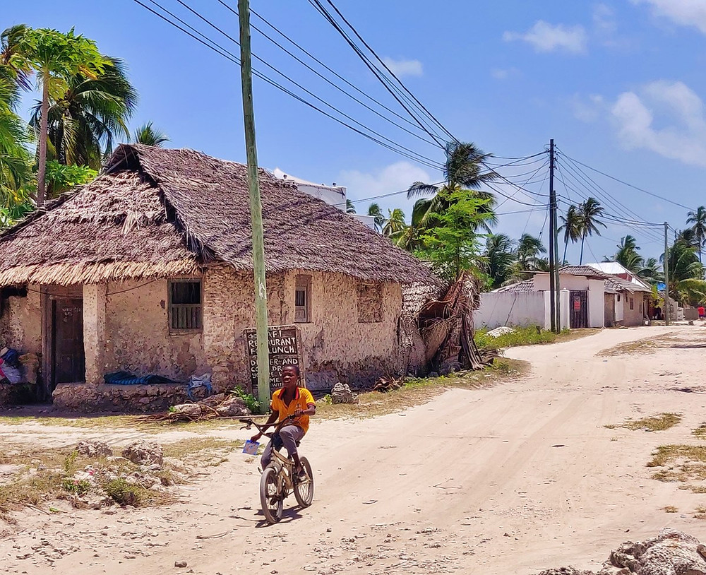 vélo village de Jambiani